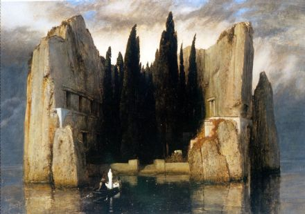 Bocklin, Arnold: The Isle (Island) of the Dead. Fine Art Print/Poster. Sizes: A4/A3/A2/A1 (00865)